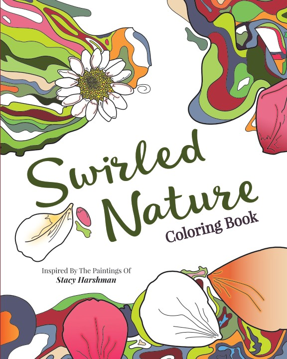 swirled nature coloring book - Nature Coloring Book